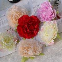 1 stück Hohe Simulation Kern Pfingstrose Blume Kopf Seidenblume DIY Hochzeit Blume Wand Hintergrund Dekoration Seide Rose