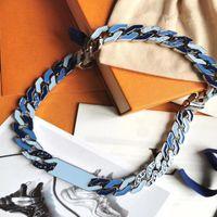 2020 Dernier lancement Français Masters Conception de Luxe Hip Hop Street Hommes et Femmes Bracelets Cuban Chaîne bleu Bracelet Bracelet Collier Bijoux