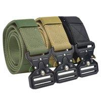 الخصر دعم الثقيلة حزام التكتيكية الرجال المعادن مشبك النايلون الرياضة التدريب القتالية أحزمة الصيد الملحقات