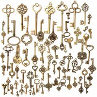 Mixed Antique vintage Bronze Alloy Keys Skeleton Key pendant...