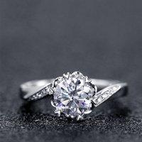 100٪ 18 كيلو 750 حتى الذهب الدائري مويسانيت خاتم الماس خاتم الزواج d اللون vvs مع شهادة National T200411