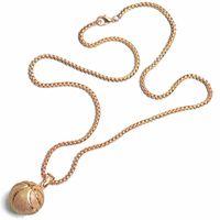 Basketball or et argent pendentifs en acier inoxydable colliers bijoux pendentifs de sport bijoux usine en gros