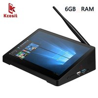 "Original Mini PC X10S Tout dans un Mini PC Tablette de bureau de bureau de bureau 10 Intel J4105 10.1 ""Écran tactile 6GB RAM WIFI RJ451"