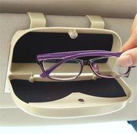 자동차 자동차 보관 상자 차량 선글라스 케이스 홀더 솔리드 컬러 손상 통화 패션 액세서리 인테리어 장식 13DM M2