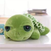 20 cm grandi occhi Turtle Peluche Giocattoli Army Green Tortoise Animali Ambientazione di Bambole Piecili Baby Bambini Bambini Compleanno Regali di Natale