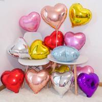 50шт 18 дюймов сердца фольга шаров свадьбы день рождения день Святого Валентина вечеринка сердце любовь гелиевый балаос украшения детские душевые подарки