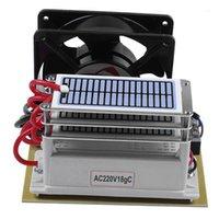 Ozone O3 مولد تنقية المياه الهواء 3 طبقات برهان الرطوبة مع مروحة الأوزون المعالجة الأوزون آلة -18G / H، الولايات المتحدة