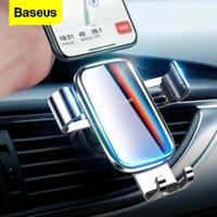 Baseus Luxury Gradient Color Car Phone Holder For Gravity Air Vent Mount Clip Car Cell Mobile Phone Holder Stand