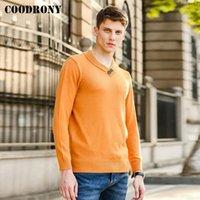 COODRONY Üst Kalite Streetwear Moda Casual Kazak Kalın Yaka Jumper Yumuşak Sonbahar Kış balıkçı yaka kazak Erkekler P1228 Isınma