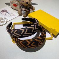 Mode Nouveau Style Classic Modèle de lettre Top Qualité Bande poils Motifs géométriques Impression de la bandeau à cheveux Femmes bijoux de cheveux en gros