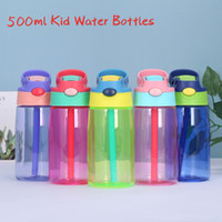 5 Colors 16oz Plastic Kids Water Bottles with Duck Billed St...