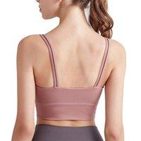 Camisoles tanques yogaworld mulheres underwears ioga fitness underwear almofada torácica rodando ao ar livre rápido secagem à prova de choque esportes belo sutiã de volta