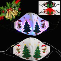 Led Designer Christmas Face masks Xmas Santa Claus Masks wit...