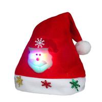 قبعة عيد الميلاد عيد الميلاد البسيطة الأحمر بابا نويل ثلج حزب دير ديكور عيد الميلاد قبعات زينة قبعة للأطفال الكبار أدوات المائدة حامل HHB2314