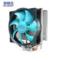 PCcooler 2 Heatpipe 120mm CPU Fan refrigerador de Computador Silencioso Processador Refrigerador Radiador Para Intel LGA1155 / 1151 AMD AM4 AM31
