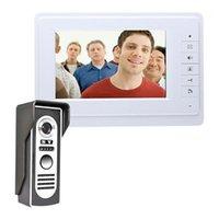 Doorbells 7 Inch Wired Video Door Phone Intercom System Color LCD With Waterproof Digital Doorbell Camera Viewer IR Night Vision (US Plug)1