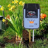 Işık Toprak PH Test Fonksiyonu Bahçe Tarım Aracı ile Analog 3-in-1 Nem Ölçer