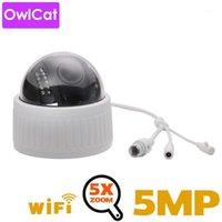 Owlcat 2MP 5MP HD HD HD Indoor Wifi PTZ Dôme Caméra IP 5x Zoom Vidéo sans fil Surveillance Vidéo CCTV AUDIO MIC IR Night Flash Card Onvif1
