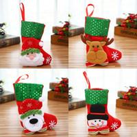 2020 Yılbaşı Ağacı çorap Çanta Asma Kardan Adam Noel Baba Elk Kutup Ayısı Pullarda Çorap kolye Hediye Çanta 2mg G2