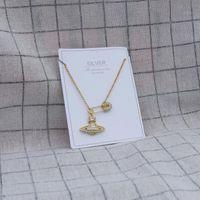 925 argento sterling full zircone pin pianeta pendente collana color oro cristallo croce pianeta collana regalo regalo gioielli gioielli