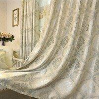 Europäische Stil Vorhänge für Wohnzimmer Schlafzimmer Hohe Präzision Jacquard Vorhang Blackout Vorhang Fertigprodukt Anpassung