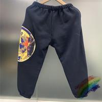 Katı Renk Köpük Baskı Sweatpant 1 Yüksek Kalite Erkekler Kadınlar Pantolon Spor Pantolon