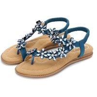 سوبرالز نساء سوبرتيز صيف جديد بوهيميا شاطئ الصنادل البوهيمي زهرة حفر المياه النعال مريحة أحذية كبيرة الحجم