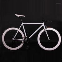 Bisikletler Sabit Dişli Bisiklet Fixie 52 cm Çerçeve DIY Kas Bisiklet Yol Alüminyum Alaşımlı Bisiklet1