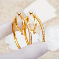 الأزياء هوب القمر أقراط aretes orecchini للنساء حزب عشاق الزفاف هدية مجوهرات الاشتباك مع مربع HB0917