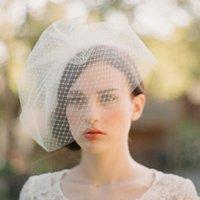 Cheap Lace Applique Wedding Veils casamento Tulle véus de noiva na cor branca entrega rápida barato Em armazém nupcial Acessórios