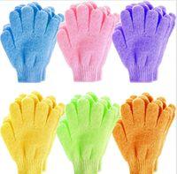Bad Handschuh Kinder Waschlappen Tuch Handtuch Solide Kinderfingerhandschuhe Nylon Massage Dusche Blase Werkzeug abgestorbene Hautzell Remover LSK1502