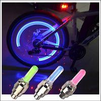 يدعي Firefly الصمام عجلة صمام الجذعية كاب الإطارات الحركة النيون ضوء مصباح للدراجة دراجة سيارة دراجة نارية FY4324