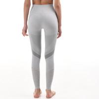 Kadın Tayt Giyim Bayanlar Dikişsiz Yoga Pantolon Fitness Koşu Yüksek Bel Streç Eğitim Spor Dokuz Dakika Siyah