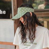 Сладкая и милая в горошек пустая шапка шляпа самки женское лето дикий студент беспроблемный бейсбол Cap1