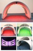 2019 인기있는 전문 접을 수있는 7 색 LED 뷰티 라이트 치료 PDT 얼굴 피부 회춘 아름다움 기계