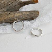 13mm 18mm 23mm Platinum plattiert 925 Sterling Silber Reifen Huggies Ohrringe Kreis Manschette Ohrringe Schmuck Geschenk JDHED2481