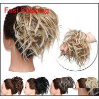 Nova bagunça Scrunchie Chignon Hair Bun Elastic Faixa Elástica Updo Papel Sintético Cabelo Chignon Extensão do Cabelo Para As Mulheres Xaqzw Olsiz Af7JD