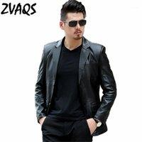 Giacca da uomo in similpelle in pelle da uomo 2021 primavera e autunno jaqueta de couro masculina nera sottile moda casual maschio Zvaqs XT2191
