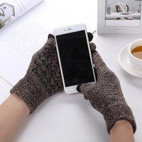 Top 7Colors Touches plus épais à tricoter Gants chauds Écran tactile Magic Acrylique gant Téléphone mobile Gant d'écran tactile universel