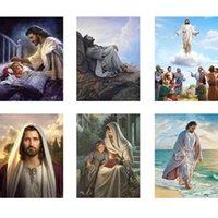 5D DIY алмазная живопись Религиозная христианская Иисус Алмазная вышивка Landcape Крест вышивка Полный страз Рождественский подарок
