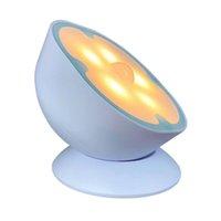Hareket Sensörü Gece Lambası 360 Derece Dönen Akıllı Vücut Algılama Gece Işık Dönen Mıknatıs Lambası Duygu Koridor İndüksiyon Lambası