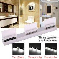 세 가지 조명 욕실 벽 램프 화이트 라이트 실버 방수 거울 벽 조명 주도 욕실 크리스탈 램프 9W 현대 미술 장식 조명