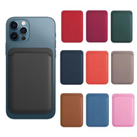 Magsafe Кожаный кошелек Чехол Кредитная карта Cash Pocket ID Держатель карты Пакет для iPhone 12 Mini 12 Pro Max