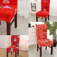 Decorazioni di Natale copertura della sedia domestica pranzo Ornamenti del fiocco di neve Babbo Natale Covers forza elastica siamesi manica 2020 8LP F2