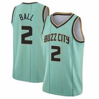 "Lamelo 2 balle Gordon 20 Jersey de basketball Hayward 2021 Nouveau Charlotte ""Hornets"" Mens pas cher"
