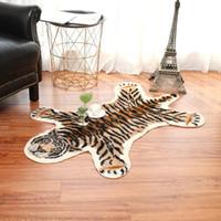 Тигр напечатанный коврик леопард тигр напечатанный из искусственного меха не скольжения противоскользящий коврик 80x105см декоративные животные печати ковровое украшение