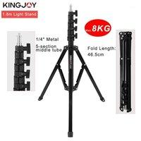 Kingjoy 1,8 m Trépod Trépied Max Charge to 8kg pour Photo Studio Fresnel Tungsten Light TV Station Studio Photo Tripods1