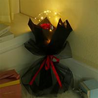 الصمام بالون مضيئة روز باقة شفافة فقاعة روز اللمعان ضوء بوبو الكرة عيد الحب هدية عيد حفل زفاف اللعب E121802