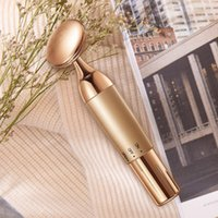 The Newest Electronic beauty equipment household electric essence introduction instrument facial massager facial vibration,24k Golden