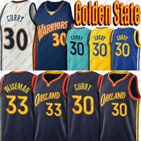 Stephen 30 Curry Jersey 33 Wiseman Formalar 2021 Sezon Altın Devletleri Takım Jersey Klay 11 Retro Thompson Yeşil Vintage Curry Jersey